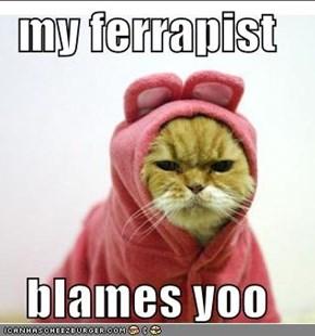 my ferrapist  blames yoo