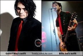 Gerard Way's outfit Totally Looks Like Billie Joe's outfit