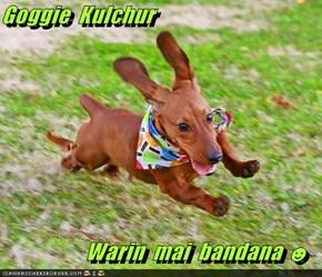 Goggie  Kulchur    Warin  mai  bandana ☻