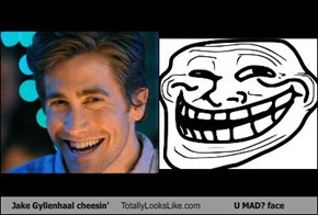 Jake Gyllenhaal cheesin' Totally Looks Like U MAD? face