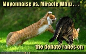 Mayonnaise vs. Miracle Whip . . .  the debate rages on