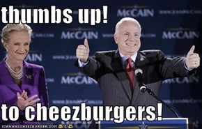 thumbs up!  to cheezburgers!