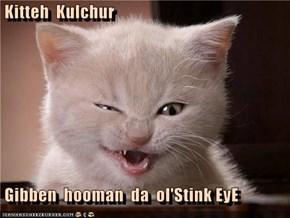Kitteh  Kulchur   Gibben  hooman  da  ol'Stink EyE
