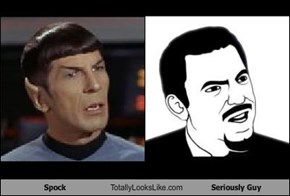 Spock Totally Looks Like Seriously Guy