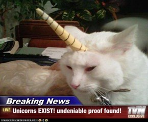 Breaking News - Unicorns EXIST! undeniable proof found!