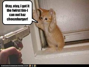 You CANNOT haz cheezeburger!