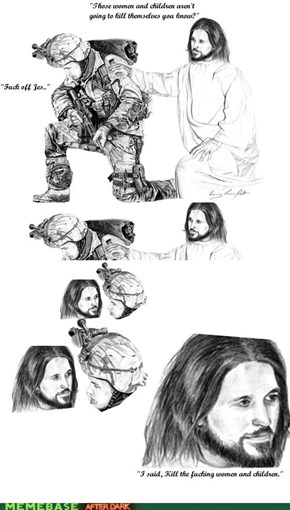 troll jesus - military