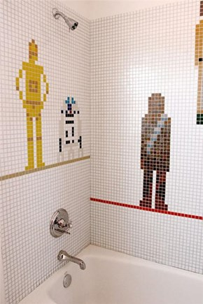 Star Wars Mosaic Bathroom Tiles of the Day