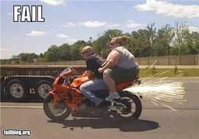 Biker Chick Fail