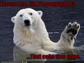Excuse me, Mr. Photographer?  ...That coke was mine.