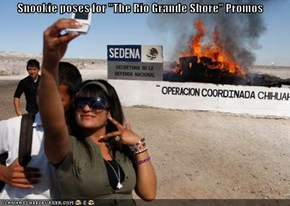 "Snookie poses for ""The Rio Grande Shore"" Promos"