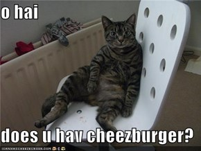 o hai  does u hav cheezburger?
