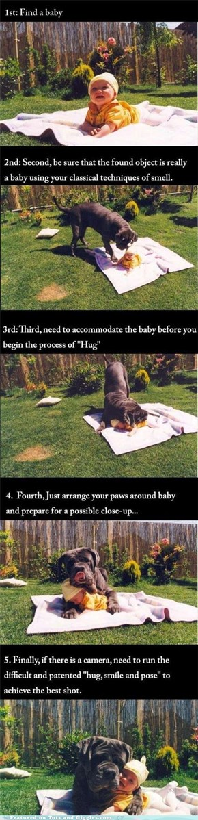 The Proper Procedure for Hugging a Baby