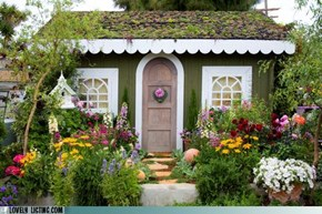 Fairytale Cottage Swallowed By Garden