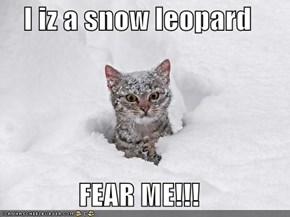 I iz a snow leopard  FEAR ME!!!