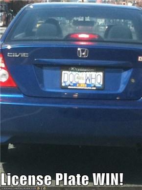License Plate WIN!