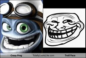 Crazy Frog Totally Looks Like Troll Face