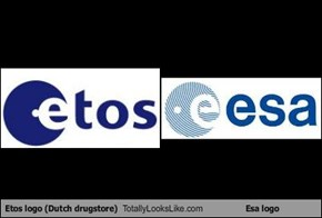 Etos logo (Dutch drugstore) Totally Looks Like Esa logo