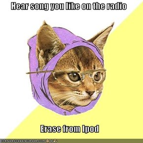 Hipster Kitty: iPod? You Mean Smash Records
