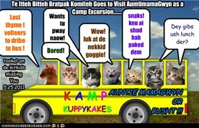 Te Itteh Bitteh Bratpak Komiteh Goes to Visit AumtimamaGwyn as a Camp Excursion........