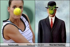 Tennis Lady Totally Looks Like This Dali Painting