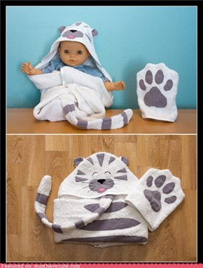 Cutie Cat Towel
