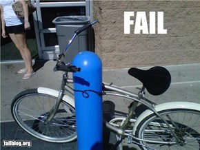 Securing Bike Fail
