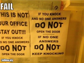 Knocking Instructions FAIL