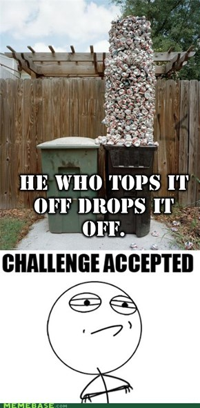 Trash Challenge: He Who Tops It Off