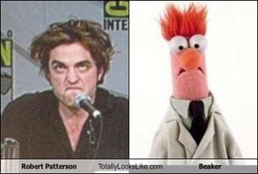 Robert Patterson Totally Looks Like Beaker