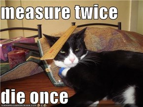 measure twice  die once