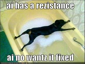 ai has a rezistance  ai no wantz it fixed