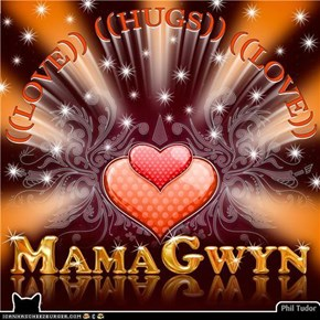 We Be Sending Healing Love and Hugs to MamaGwyn . . . . . . . . . . . . . . . . . . . .