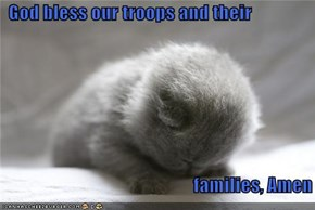 God bless our troops and their                                                                          families, Amen