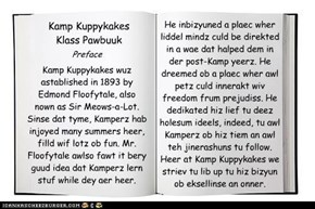Kamp Klass Pawbuuk~ Preface