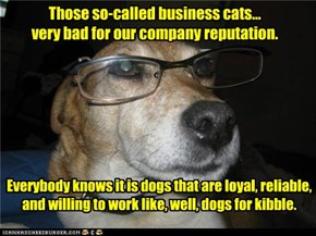 Those so-called business cats... very bad for our company reputation.