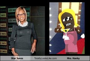 Star Jones Totally Looks Like Mrs. Hanky