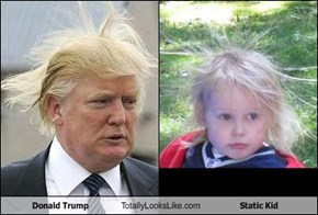 Donald Trump Totally Looks Like Static Kid