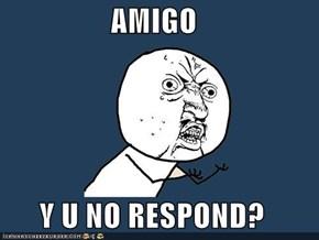 AMIGO  Y U NO RESPOND?