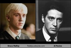 Draco Malfoy Totally Looks Like Al Pacino
