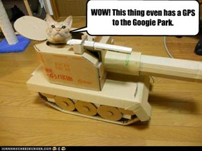 WOW! This thing even has a GPS to the Googie Park.