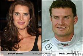 Brooke Shields Totally Looks Like David Coulthard