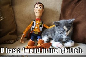 U has a fwend in meh, kitteh.