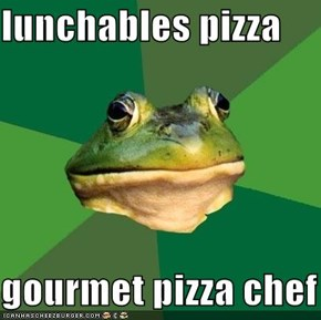 Foul Bachelor Frog: Disregard Sauce, Eat Pepperoni Alone