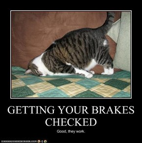 GETTING YOUR BRAKES CHECKED