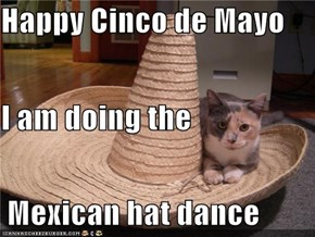 Happy Cinco de Mayo I am doing the  Mexican hat dance