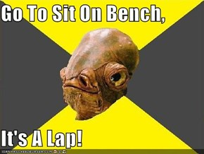 Go To Sit On Bench,  It's A Lap!