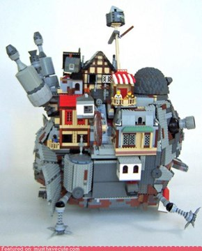 Howl's Moving Lego Castle