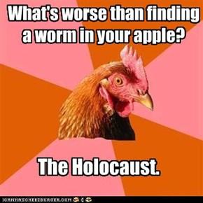 Anti-Joke Chicken: Half a Worm?