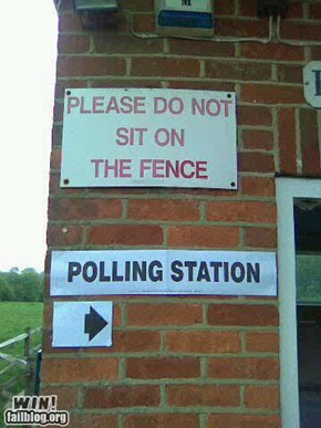 Polling Sign WIN